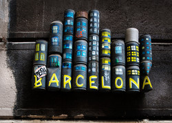 Barcelona city cans
