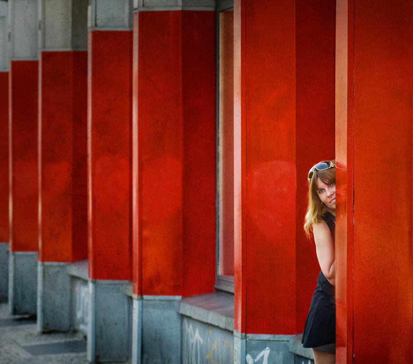 Hiding in red