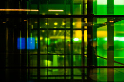 Green mess blue rectangle