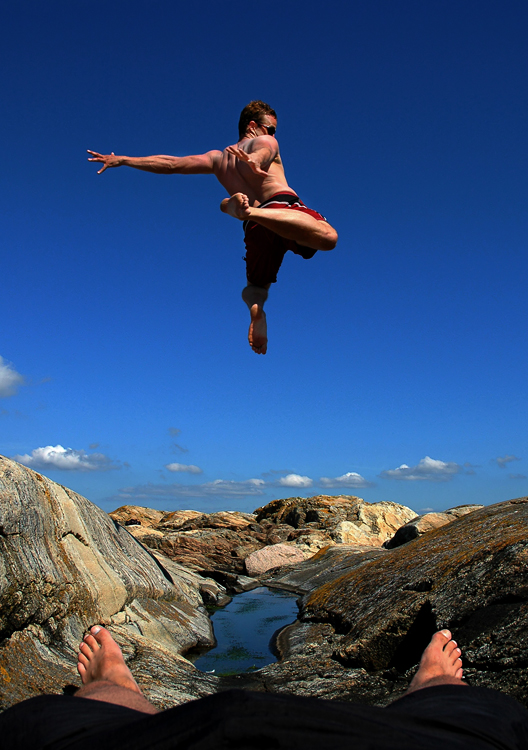 Lenny hoppar