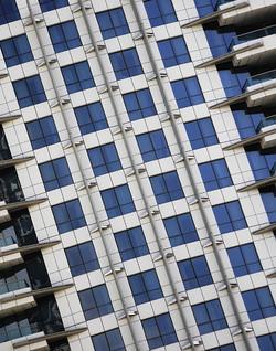 Between balconies