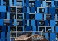 Bricks and blue