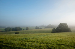 Retreating mist