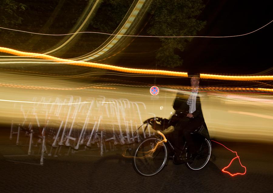 Biker in a mess