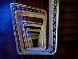 Ghost in the staircase