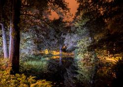 Lightpainted pond I