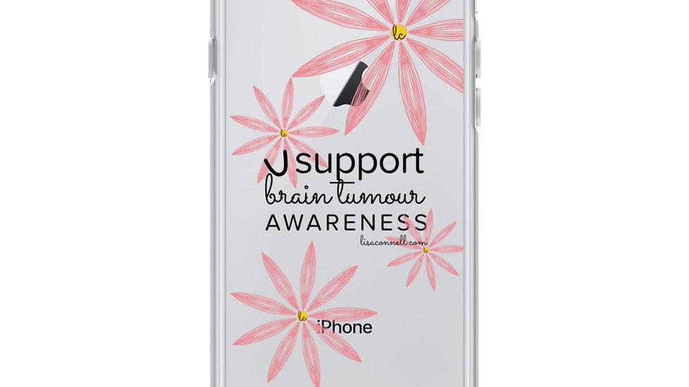 I support brain tumour awareness iPhone Case