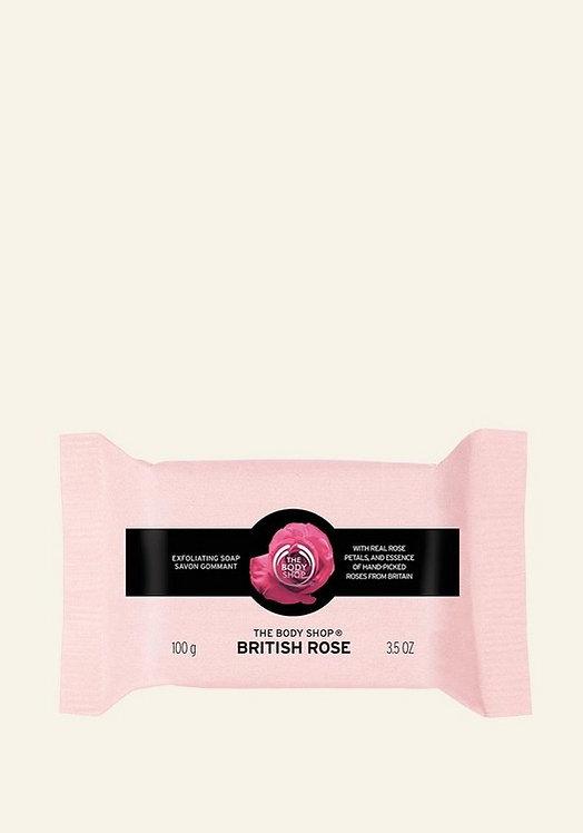 BRITISH ROSE PETAL EXFOLIATING SOAP 100 G - V