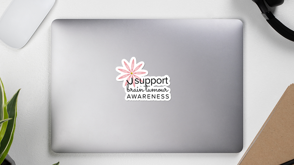 i support awareness of brain tumours - Bubble-free stickers