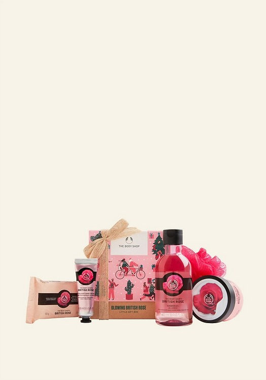 GLOWING BRITISH ROSE LITTLE GIFT BOX