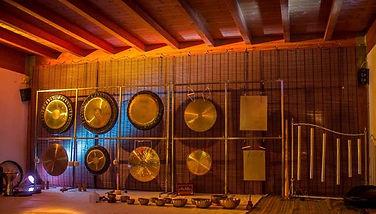 Paolo Borghi, Bagno di gong, bagno di suoni, gong