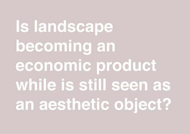 Landscape as an economic product