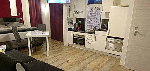 Siebenstern - erstklassike Ferienwohnungen in Jena, Übernachten in Jena, großes Wohnzimmer