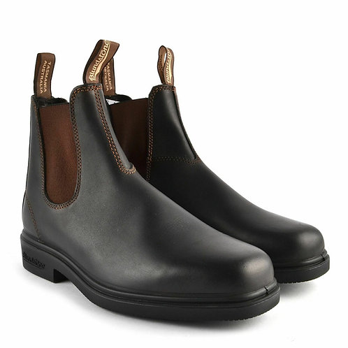 Blundstone 062 Stout Brown Unisex Leather Square-Toe Chelsea Boot