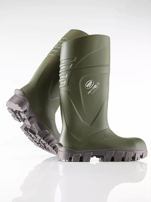 Bekina Steplite XCI Full Safety Welly Green Wellington Boot Insulated  -40