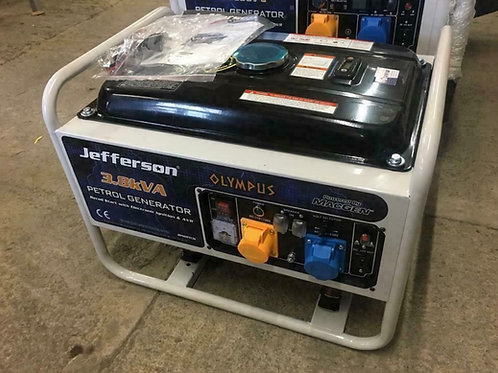Jefferson 3.0kW Petrol Generator 7.0HP