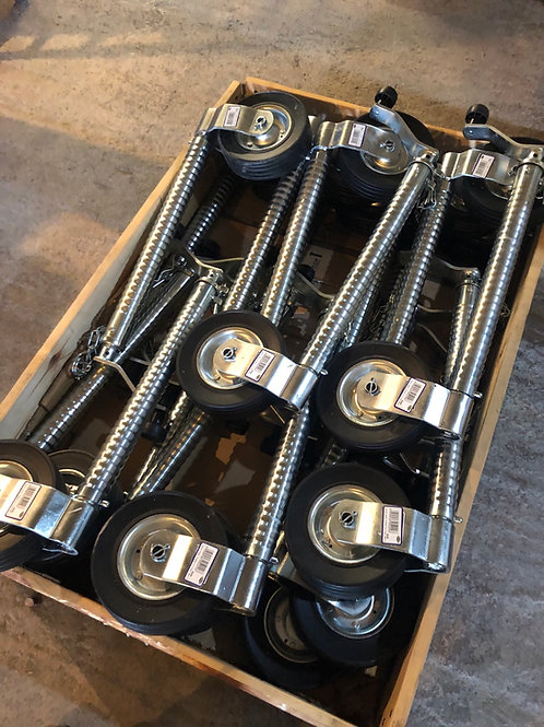 GWAZA HEAVY DUTY 48mm RIBBED JOCKEY WHEEL 500kg NOSE TRAILERS CARAVANS 200x60mm
