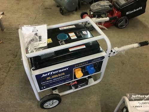 Jefferson 6.9 KVA 13HP Petrol Generator With AVR & ELECTRIC START