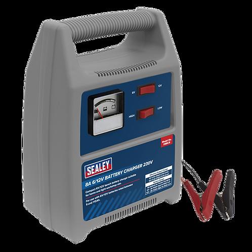 Sealey 8A 6/12V Battery Charger 230V