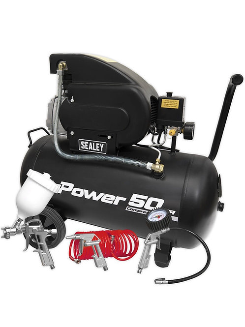 Sealey Air Compressor 50L Direct Drive 2hp