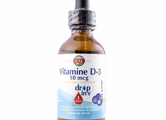 Vitamine D3 liquide - Solaray