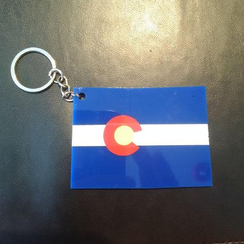 Acrylic Colorado Flag Keychain