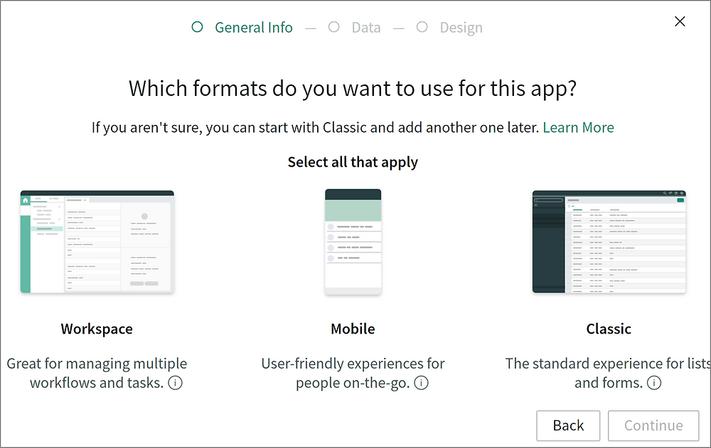 ServiceNow App Engine Guided App Creator App Types