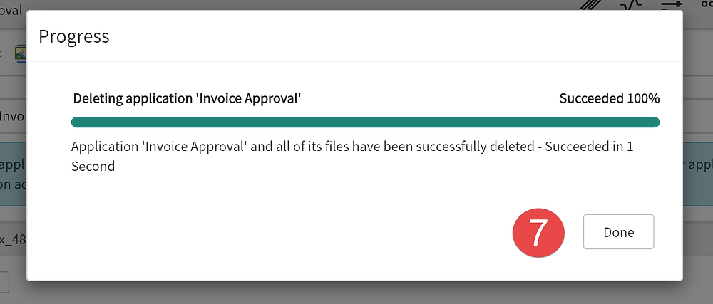 Step 7 of This article is going to show you how to delete a scoped app in ServiceNow App Engine low-code no-code platform.