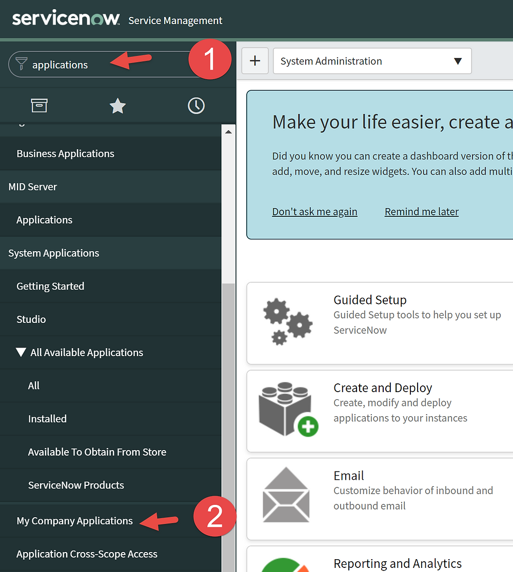 Step 1 & 2 of This article is going to show you how to delete a scoped app in ServiceNow App Engine low-code no-code platform.