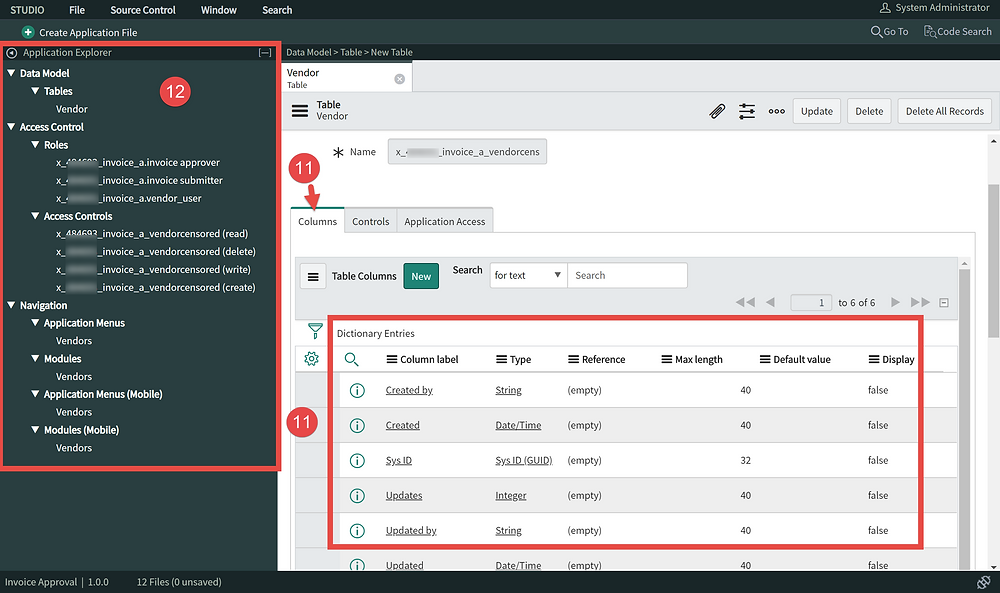 Step 11-12 - How to Create a Table in ServiceNow App Engine