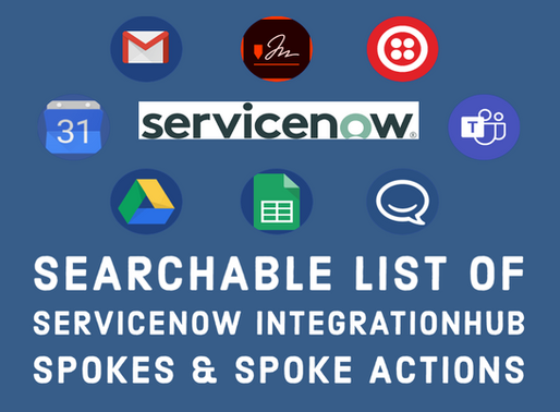 ServiceNow IntegrationHub Spokes & Spoke Actions