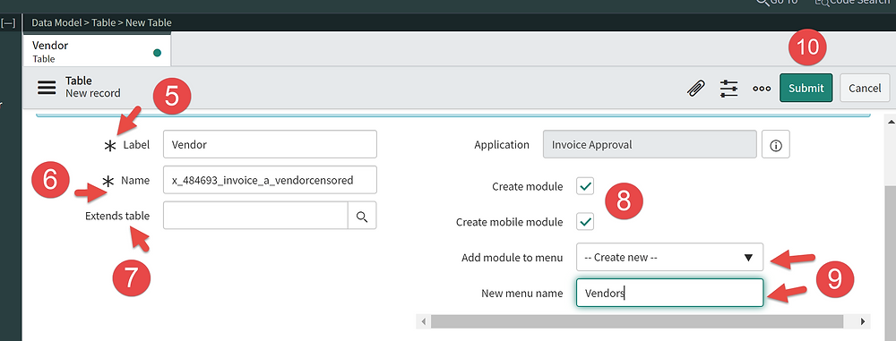 Step 5-10 - How to Create a Table in ServiceNow App Engine