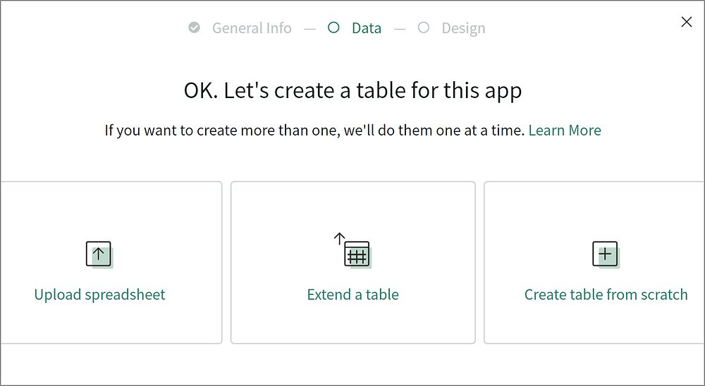 ServiceNow App Engine Guided App Creator Table Creation