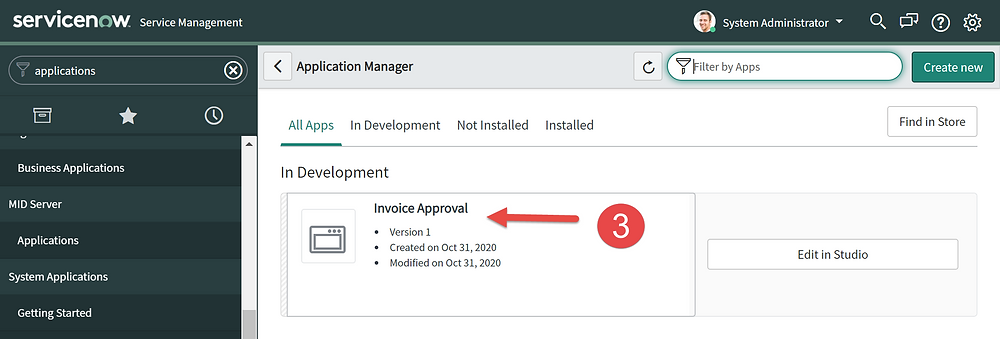 Step 3 of This article is going to show you how to delete a scoped app in ServiceNow App Engine low-code no-code platform.