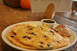 Pancakes with housemade Irish bacon