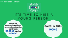 NEW AID FOR HIRING YOUNG EMPLOYEES