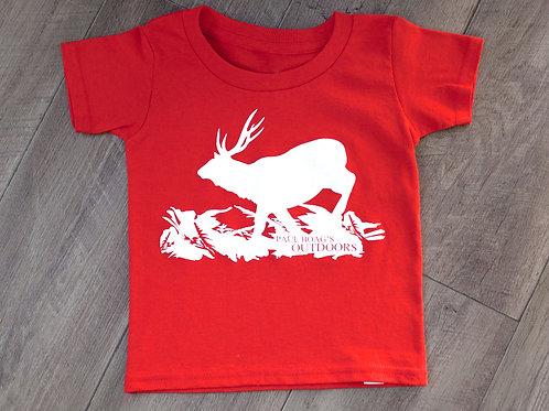 Toddler Red with White Sambar T-shirt junior
