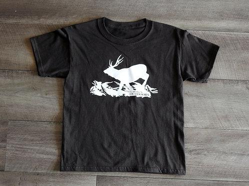Dark Brown with Dark White Sambar T-shirt kids