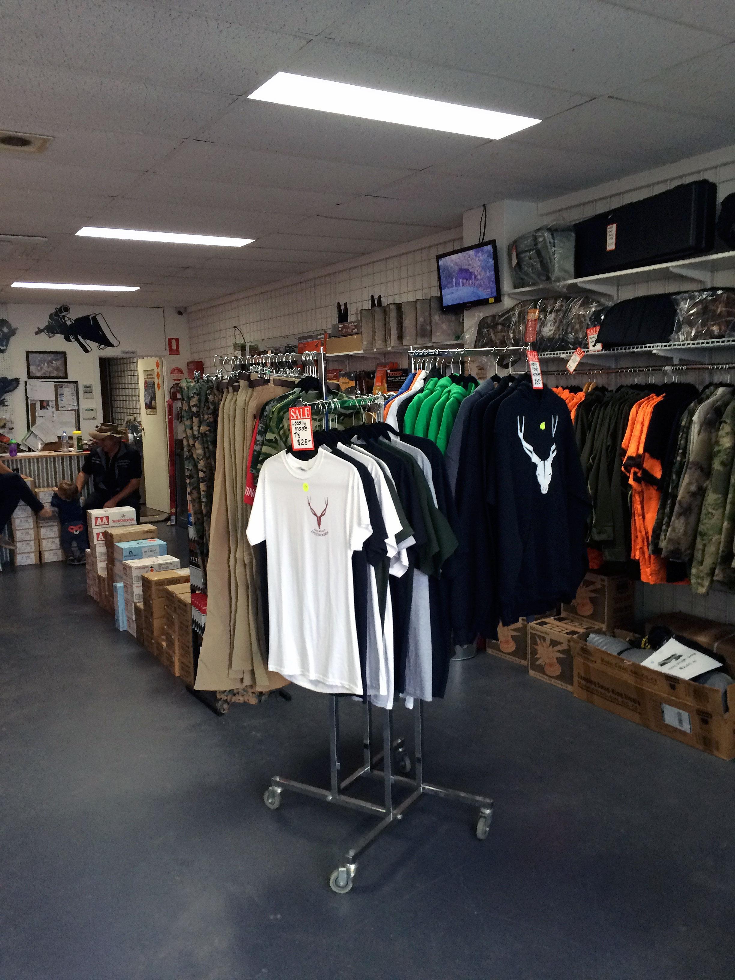 free range clothing on display