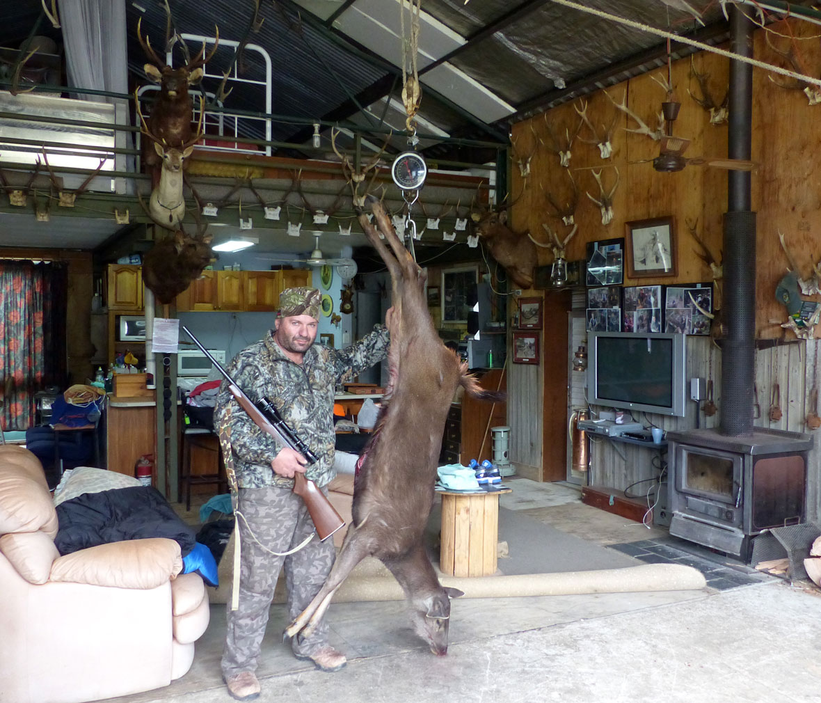 Ralph's first deer back at the lodge