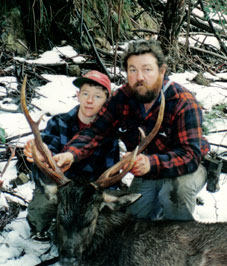Paul's first sambar stag 1994