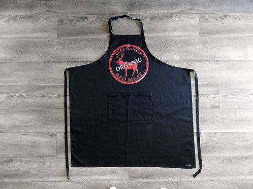 Black with Red logo Apron
