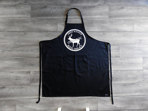 Black with White logo Apron