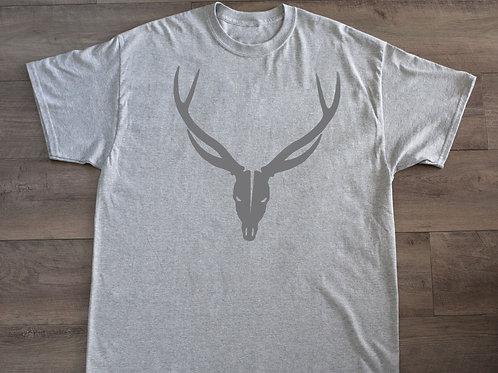 Light Grey with Grey skull T-shirt