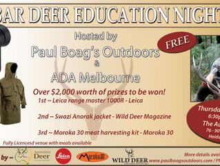 Paul's next public talk