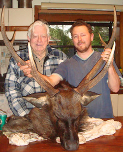 POP Boag & me with my 30 inch stag