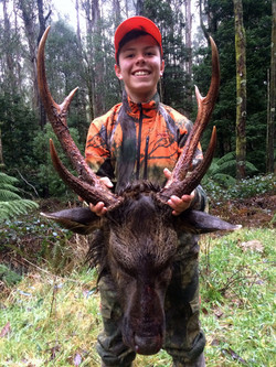 Anthony with a Nice Stag