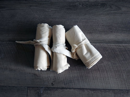 Set of 3 Calico Meat Bag