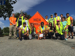 ASCE Miami-Dade YMG road cleanup august