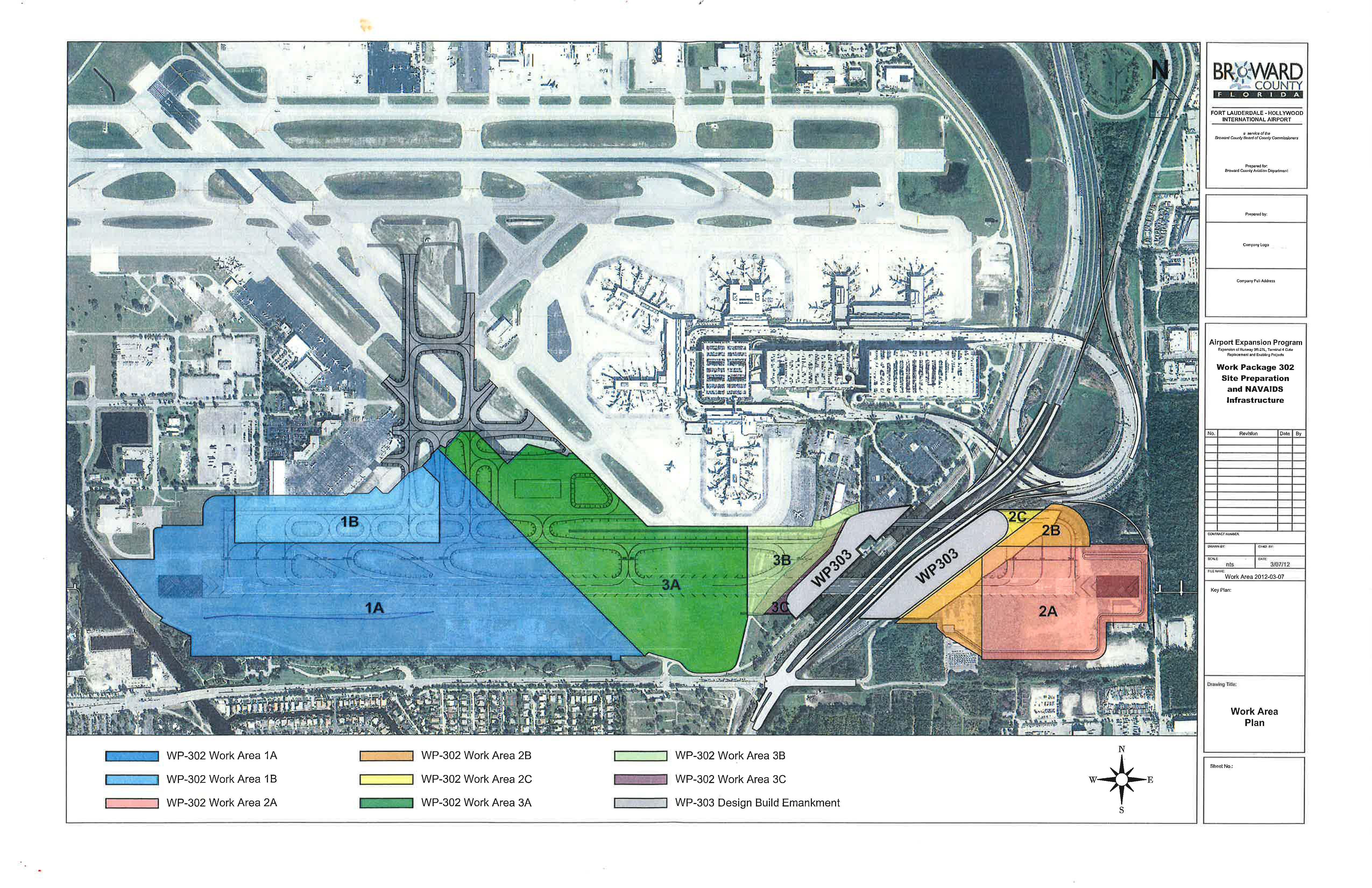 South Runway - Work Area Plan